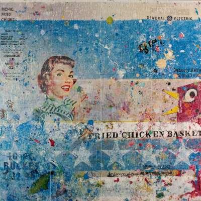 Fried Chicken Basket IV 36x36