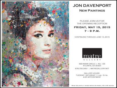 Jon Davenport Art Show Invite