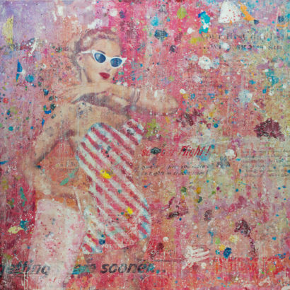 Sunglasses and Candy Stripes 36x36