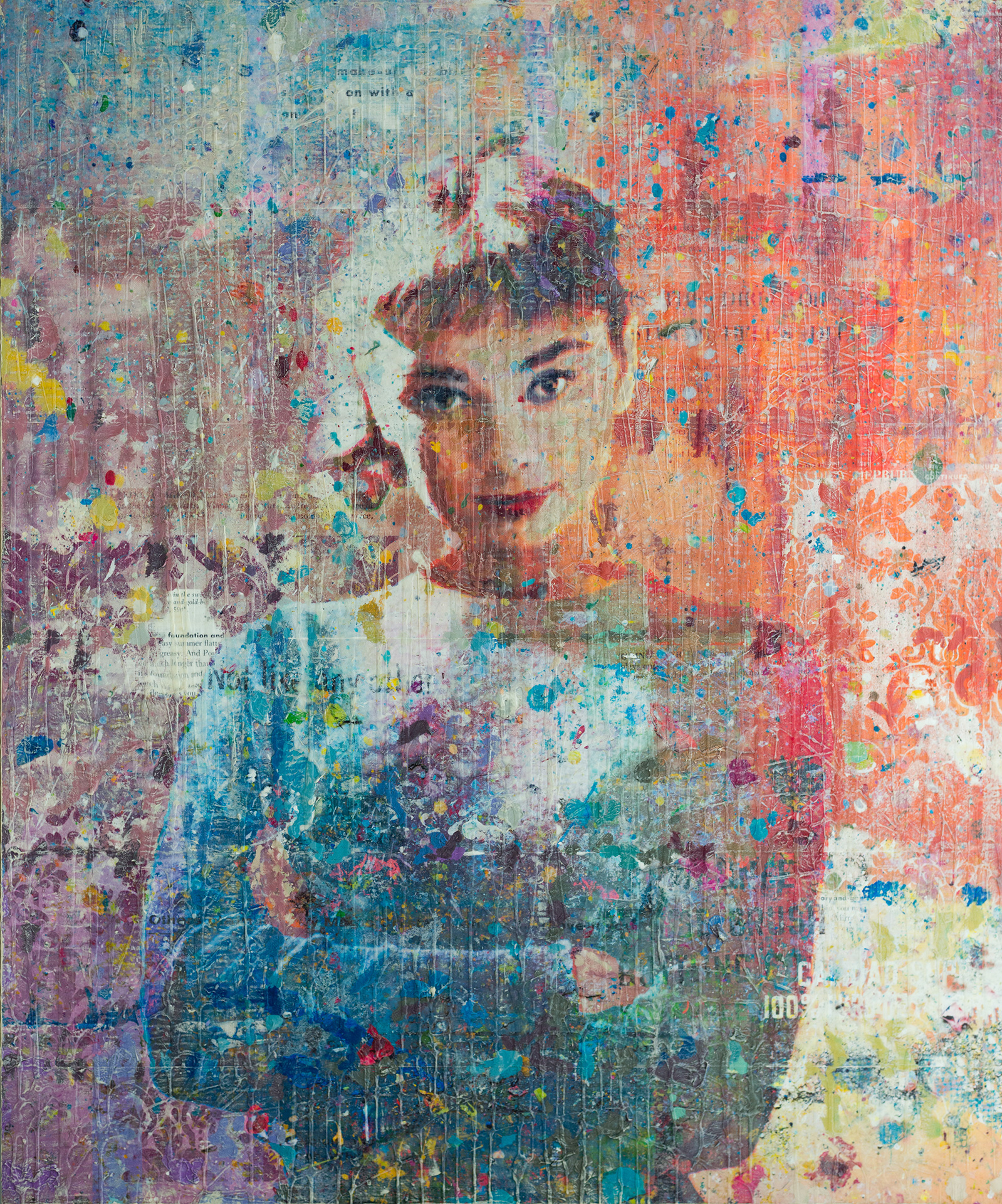 The Charm of Miss Hepburn 40x48