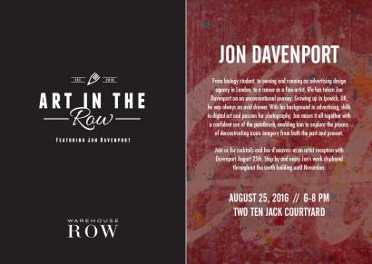 Art in the Row - Featuring Jon Davenport