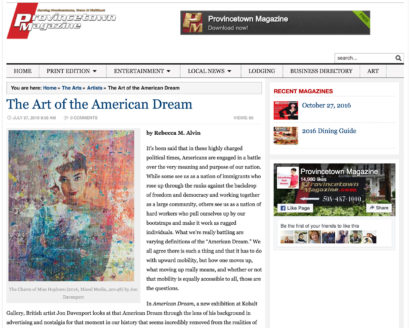 The Art of the American Dream Provincetown Magazine