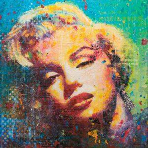 Marylin On Blue 36x36 $3500