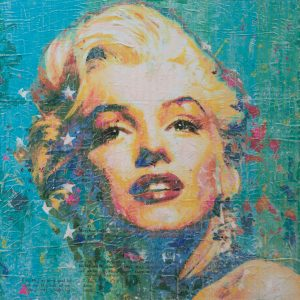 Miss Monroe on Blue 24x24