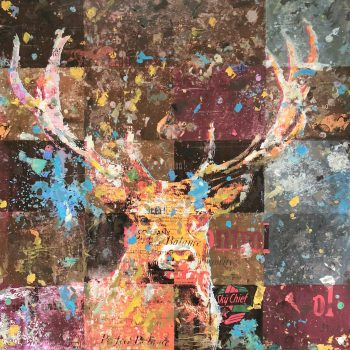 Stag Night 36x36