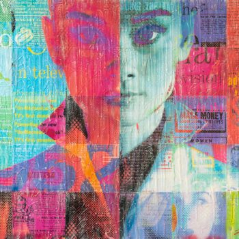 Audrey In Red And Blue 48x36