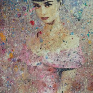Audrey In Pink 24x36