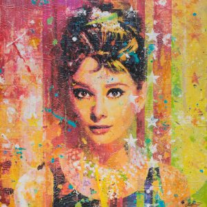 Audrey In Pearls 36x36