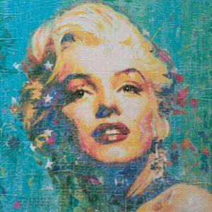 Miss Monroe on Blue 24x24