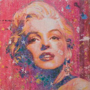 Miss Monroe on Pink 24x24
