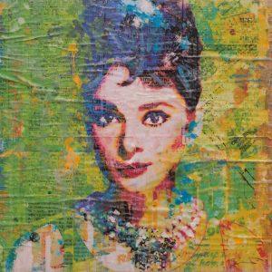 Hepburn On Green 16x16