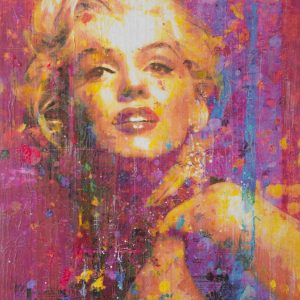 Monroe With Purple Stripes 40x30