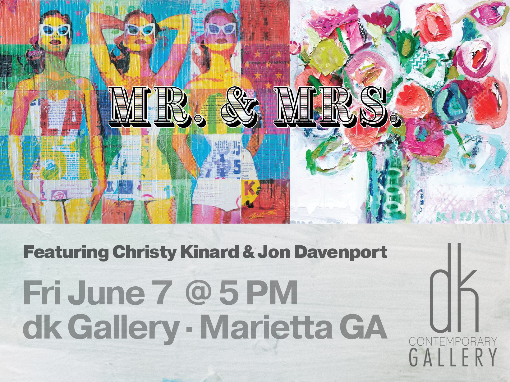 Mr and Mrs show at dk Gallery