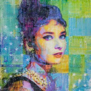 Audrey In Black 36x36