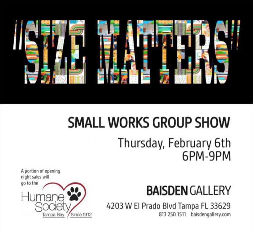small works show at baisden gallery tampa