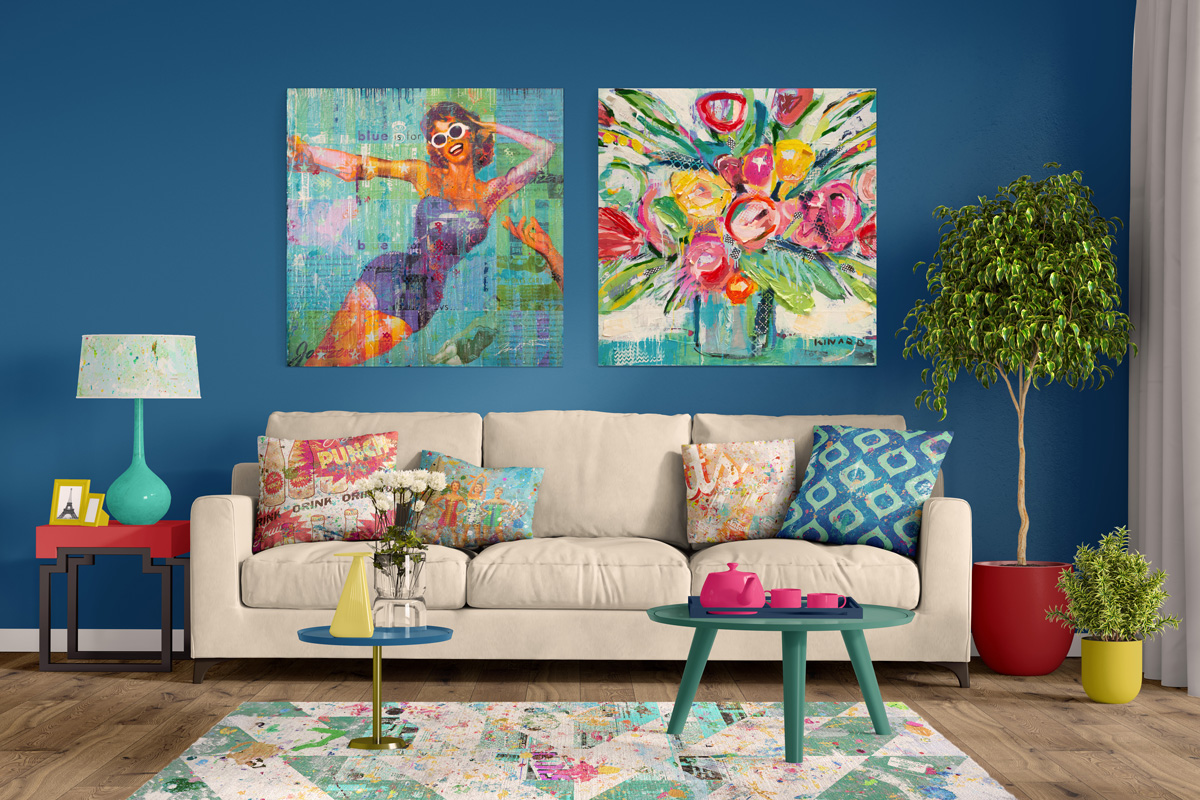 Home decor products designed by Jon Davenport at Kinard Studio
