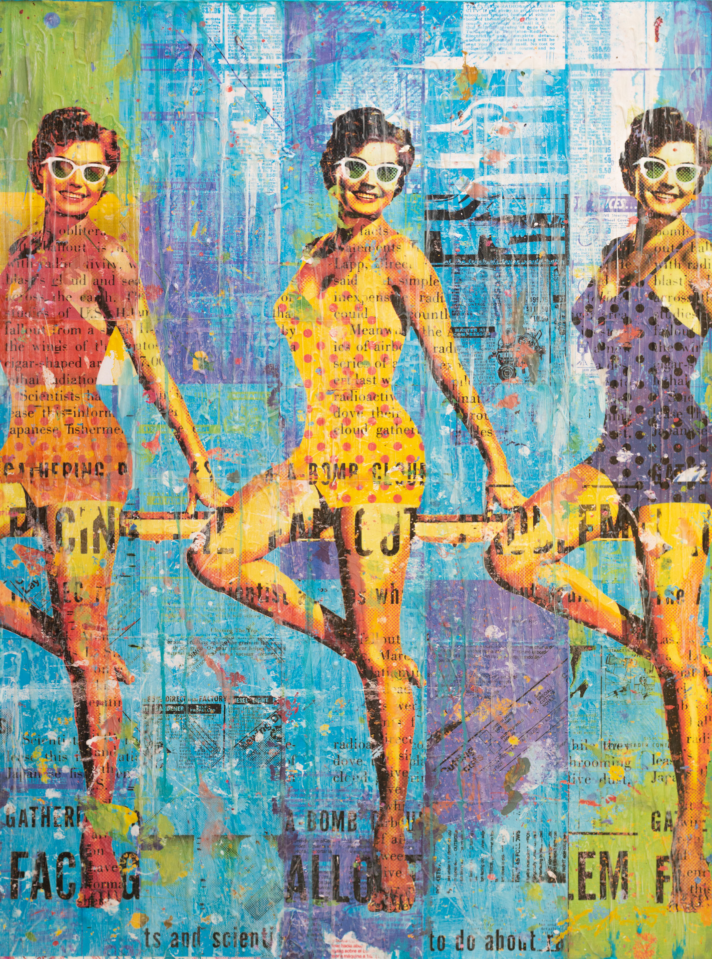 Sunglasses And Swimsuits 36x48