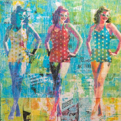 Poolside Parade 36x36