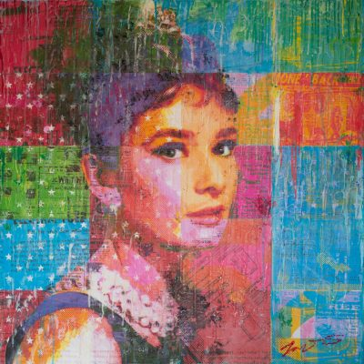 Audrey With Stars 36x36