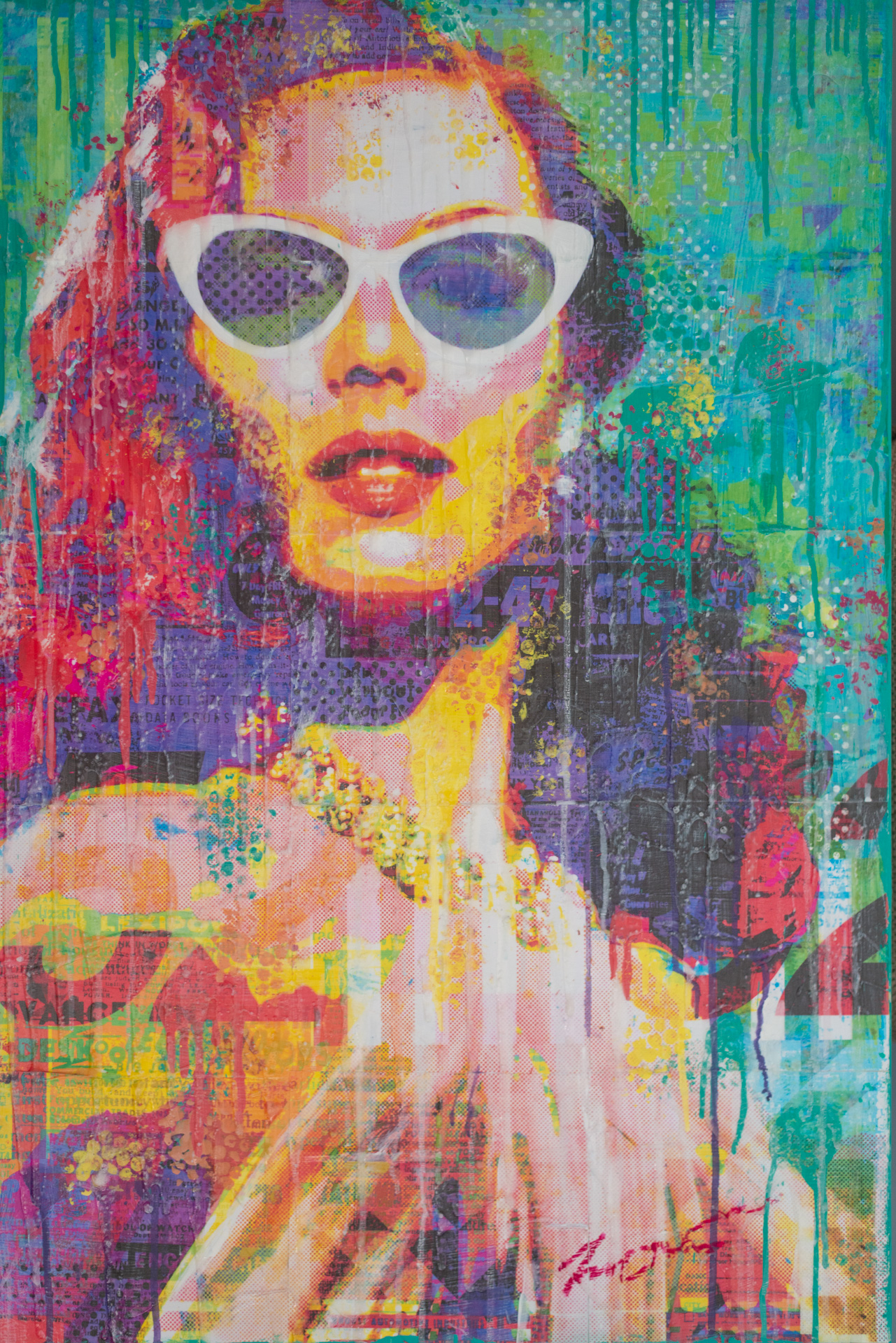 Sunglasses And Pearls 36x24
